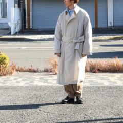 ATHA・AIRY NYLON MAXI COAT