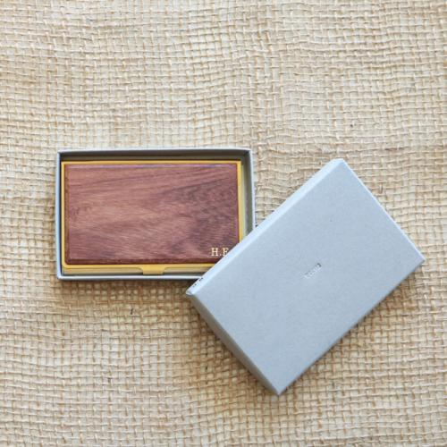 PICUS・BRASS&WOOD CARD CASE(文字箔押し)