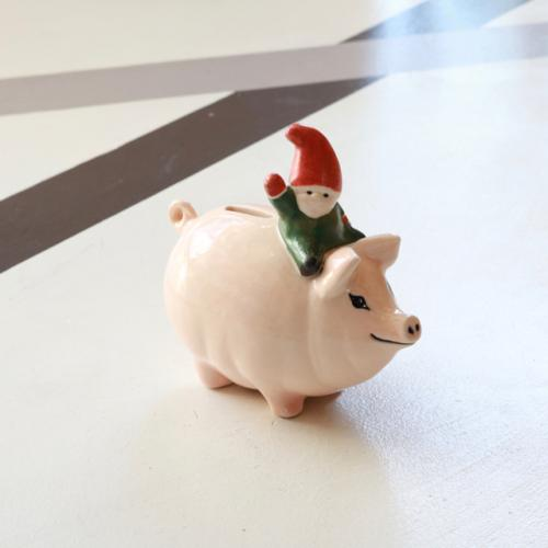 PIGGY with TOMTE (PIGGY BANK)