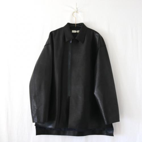 semoh・HORSE LEATHER ZIP JACKET