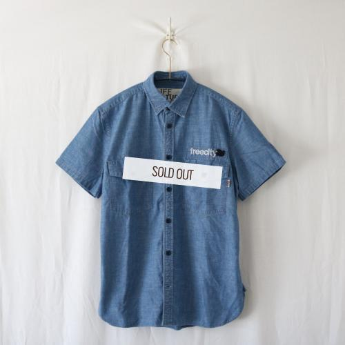 DOVE EMBROIDERY ARMY CHAMBRAY SS SHIRT